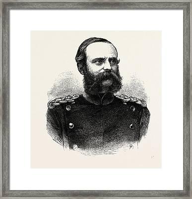 Franco-prussian War Lieutenant-general Count Bismarck-bohlen Framed Print by French School
