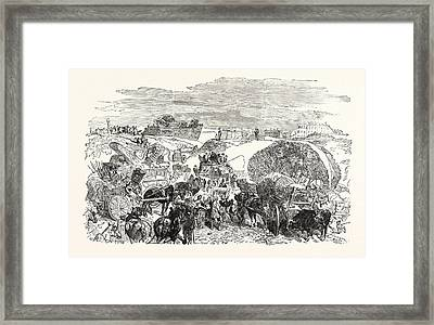 Franco-prussian War Residents Of The Zollinie Flee Framed Print by French School
