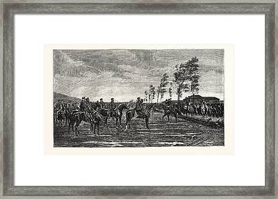 Franco-prussian War Surrender Of Metz To Prince Frederick Framed Print by French School