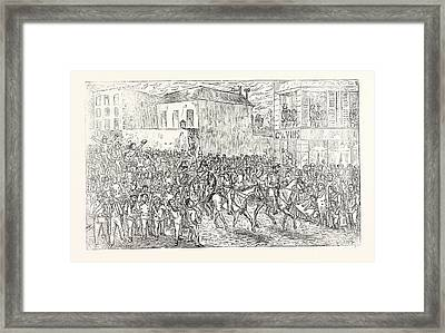 Franco-prussian War The Mobile Guard From Isle De France Framed Print by French School