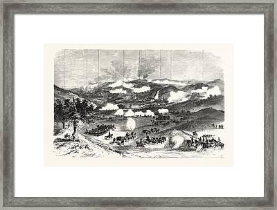 Franco-prussian War Troops 11th German Corps Framed Print
