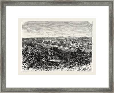 Franco-prussian War View Of The City Of Wissembourg Framed Print by French School