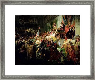 Francois Boissy Danglas 1756-1826 Saluting The Head Of The Deputy Jean Feraud 1758-95 1 Priarial An Framed Print