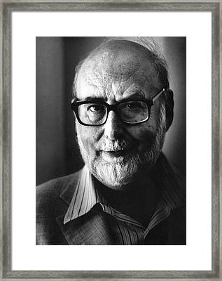 Francois Englert Framed Print by Emilio Segre Visual Archives/american Institute Of Physics