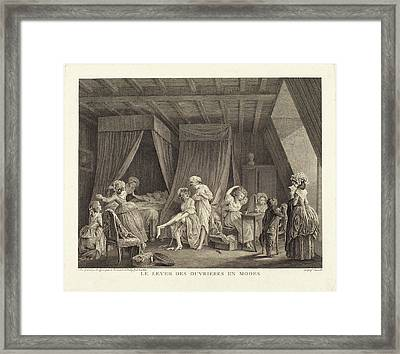 Francois-nicolas-barthelemy Dequevauviller After Nicolas Framed Print by Quint Lox