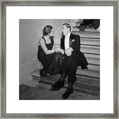 Francoise De Laperouse And Comte Philippe De Framed Print by Roger Schall