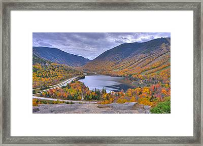 Franconia Notch From Artist's Bluff Framed Print