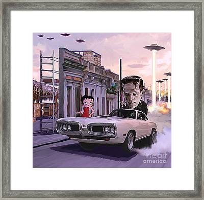 Frank And Betty Framed Print by Marco Machatschke