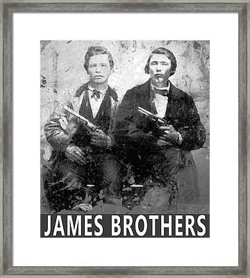 Frank And Jesse James Outlaws Framed Print