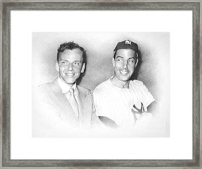 Frank And Joe Framed Print
