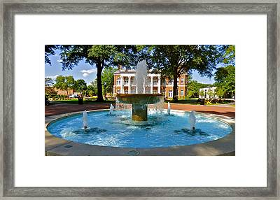 Frank E. Brown Fountain Framed Print by Jean Wright