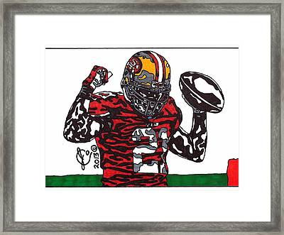 Frank Gore 1 Framed Print by Jeremiah Colley