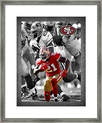 Frank Gore 49ers Framed Print by Joe Hamilton