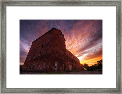 Frank Jones Brewery Sunset Framed Print by Eric Gendron
