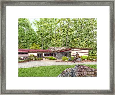 Frank Lloyd Wright At Duncan House Framed Print by Albert Puskaric