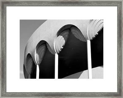 Frank Lloyd Wright Designed Auditorium Detail Framed Print