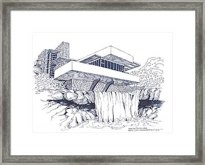 Frank Lloyd Wright Falling Water Architecture Framed Print
