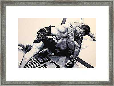 Frank Mir V Big Nog Framed Print