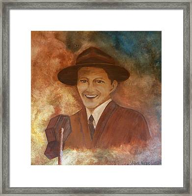 Frank Framed Print by Nora Niles