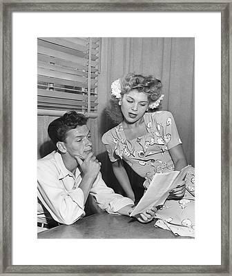 Frank Sinatra & Eileen Barton Framed Print by Underwood Archives
