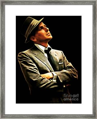 Frank Sinatra 20150125brun Framed Print by Wingsdomain Art and Photography