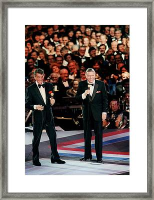 Frank Sinatra And Dean Martin Framed Print