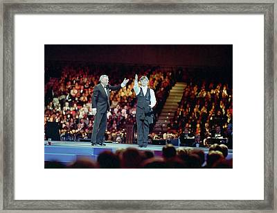 Frank Sinatra And Mikhail Barysnikov Framed Print