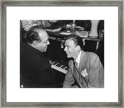 Frank Sinatra At Stork Club Framed Print by Underwood Archives