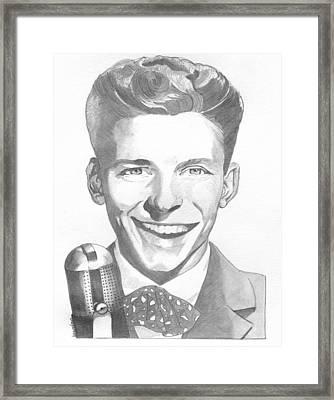 Frank Sinatra Framed Print by Brian Condron