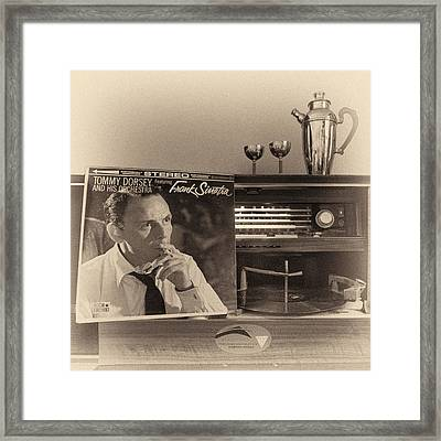 Frank Sinatra Croons To You Framed Print