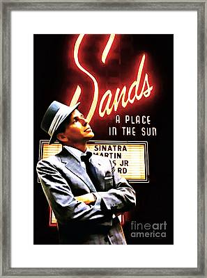 Frank Sinatra I Did It My Way 20150126brun V2 Framed Print