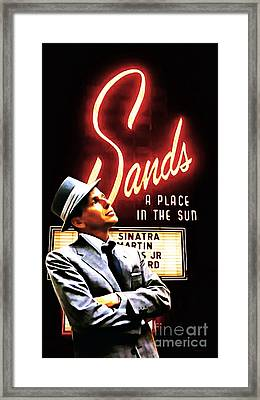 Frank Sinatra I Did It My Way 20150126brun Framed Print