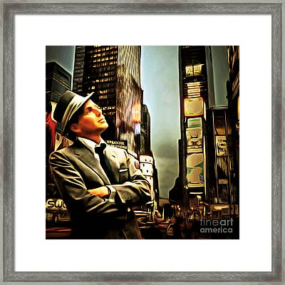 Frank Sinatra If I Can Make It Here New York 20150126brun Square Framed Print by Wingsdomain Art and Photography
