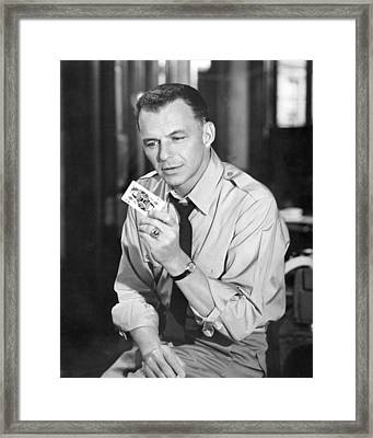 Frank Sinatra In Some Came Running  Framed Print by Silver Screen