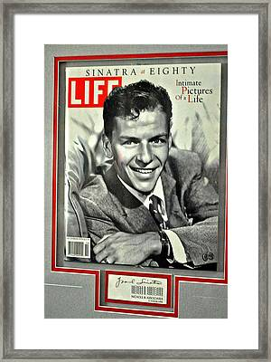 Frank Sinatra Life Cover Framed Print