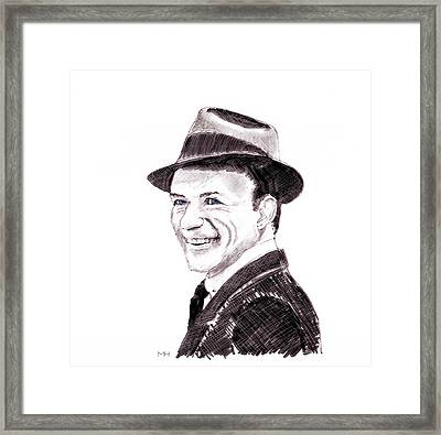 Frank Sinatra Framed Print by Martin Howard