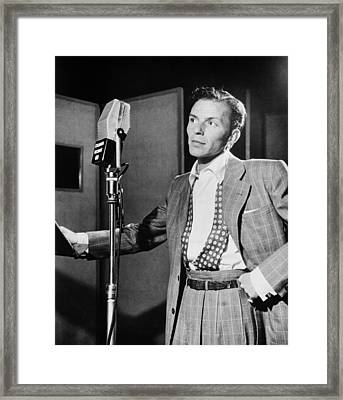 Frank Sinatra Framed Print by Mountain Dreams