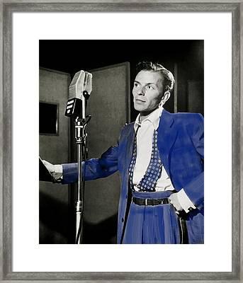 Frank Sinatra - Old Blue Eyes Framed Print