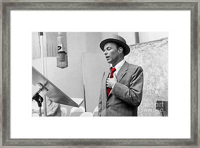 Frank Sinatra Painting Framed Print