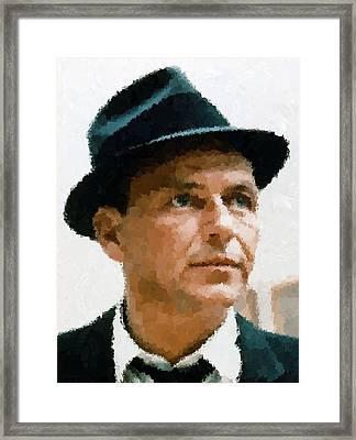 Frank Sinatra Portrait Framed Print