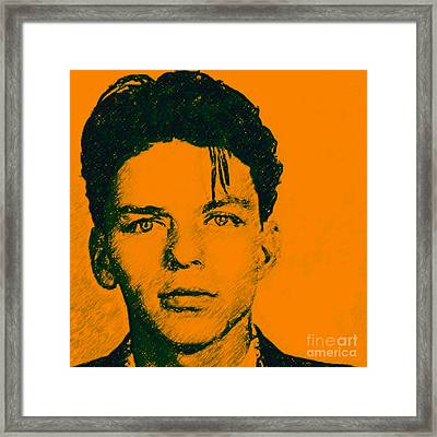 Frank Sinatra V1square Framed Print by Wingsdomain Art and Photography