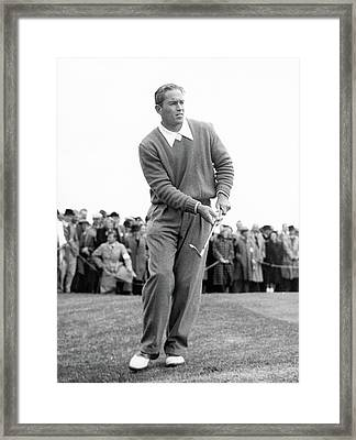 Frank Stranahan Playing Golf Framed Print by Artist Unknown