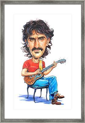 Frank Zappa Framed Print by Art