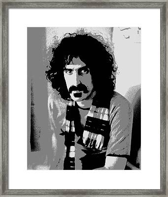 Frank Zappa - Chalk And Charcoal 2 Framed Print by Joann Vitali