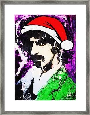 Frank Zappa Christmas Framed Print by Doug Robinson