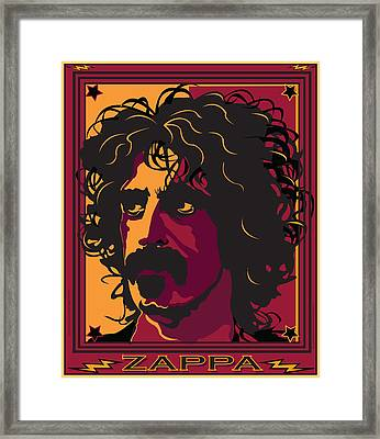 Frank Zappa Framed Print by Larry Butterworth