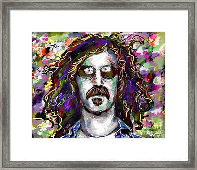 Frank Zappa Painting Framed Print