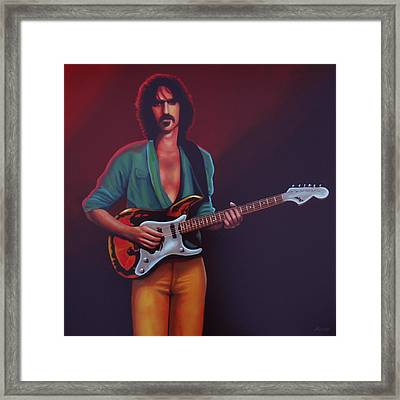 Frank Zappa Framed Print by Paul Meijering