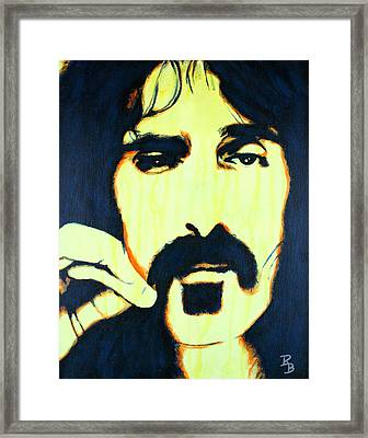 Frank Zappa Pop Art Framed Print