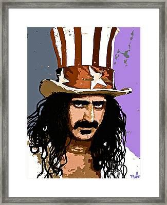 Frank Zappa Framed Print by Saundra Myles